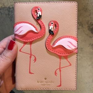 Kate Spade Flamingo Passport Case
